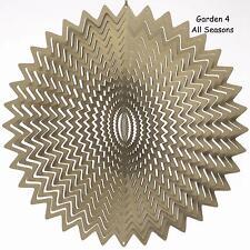 """12""""/30cm Stainless Steel SILVER SPLASH/WHIRL Wind Spinner Sun Catcher HookGarden"""