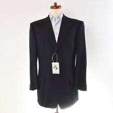 Ermenegildo Zegna Sakko Jacket 100% Wolle Wool High Performance Gr 54 Marineblau