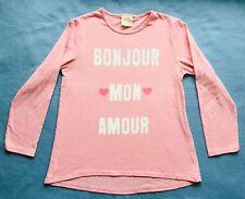 Langarmshirt mit Schrift von Zara Girls in Gr. 110, rosa