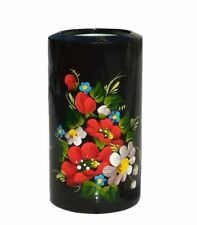 Handmade art painting candle holder good for housewarming gift floral motifs