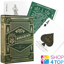 MONARCHS THEORY 11 PLAYING CARDS DECK GREEN GOLD MAGIC TRICKS SEALED NEW