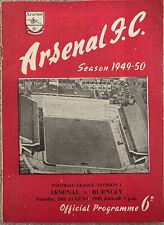 More details for arsenal v burnley 1949/50