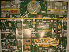 FOREST HILLS QUEENS NEW YORK STREET MAP PLAN A LOT OF INFORMATION ADDRESS NUMBER