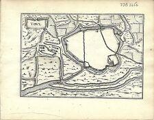 Antique map, Toul