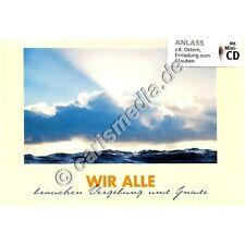 KARTE MIT CD: Wir Alle brauchen Vergebung und Gnade - Albert Frey, CD-Card *NEU*