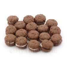 6 Maison De Poupées Miniature Taille S Biscuit Au Chocolat Avec Cream