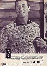 PUBLICITE ADVERTISING 014 1961 CHAT BOTTE laines