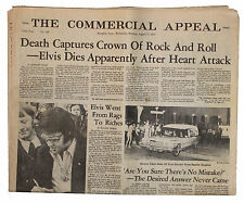 Elvis Presley Death Newspaper From Hometown Memphis -- Special Edition Following