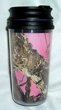 mossy oak break up real tree pink camo camouflage travel mug tumbler coffee cup