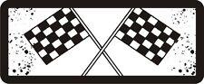 3 - Checkered Flag Hard Hat / Biker Helmet Sticker  BS086