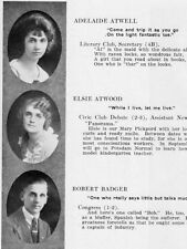 1921 Binghamton High School Yearbook~Photos~History~Football~Graphics~Ads~++++