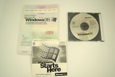 Windows 98 Full Install Version CD & Product Key and User Guide