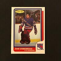 1986-87 OPC O-Pee-Chee JOHN VANBIESBROUCK #9 RC Rookie New York Rangers NM/MT