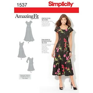 Simplicity Amazing Fit SEWING PATTERN 1537 Misses Or Women's Dress