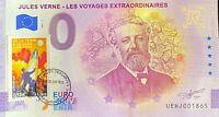 BILLET 0 EURO J. VERNE DE LA TERRE A LA LUNE TIMBRE 2021 NUMERO DIVERS