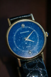 1980's Wittnauer - Longines Mechanical Watch Space Astrology Geneve Vintage