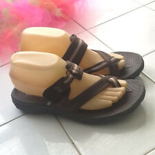 """Skeechers Brown and White Nylon """"Outdoor Life"""" Sandals Sz 36 US 7  9 5/8"""" by 3.5"""