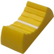 5x bouton de potentiomètre à glissière 4mm jaune 24x11x10mm