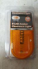 NEW Set of 4 Amber Side Marker Clearance Light 6LED Surface Mount Boat RV Camper