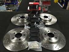 AUDI Q5 S4 S5 3.0 4.2  SPORT CROSS DRILLED FRONT + REAR BRAKE DISCS & BRAKE PADS