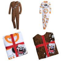 Disney Store Star Wars Pajamas One-Piece BB-8 Chewbacca Chewy Kids PJs Sleepwear