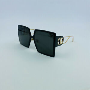 CHRISTIAN DIOR 30 MONTAIGNE Black Gold Women's Eyewear Sunglasses 30MONTAIGNE