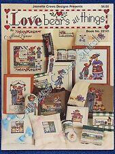 Cross Stitch Pattern Love Bears All Things Teddy Lynne