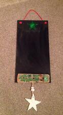 Lovely Hanging Christmas Notice Board/Chalk Board/Festive/Drift Wood/Crafty Decs