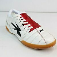 Concord Mens 4.5M Indoor Soccer Shoes Style 5320 Red White Sneakers Lace Up