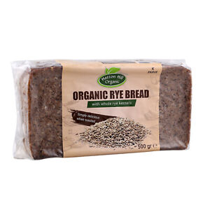 Organic Rye Bread with Whole Rye Kernels 500g (Pack of 6)