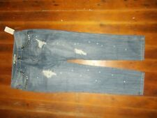 Forever 21 Jeans Women's Size 30 NEW NWT Destroyed Paint Splatter