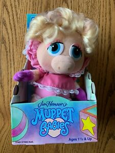 Child Dimension - Jim Henson's Muppet Babies - Baby Miss Piggy Plush - 1992 New