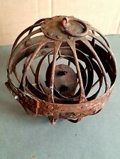 ANCIENNE LAMPE A HUILE DE MARINE GYROSCOPIQUE