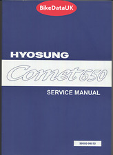 Hyosung GT 650 Comet CARB (03-07) Factory Shop Service Repair Manual Book DC31