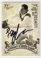 SIGNED EDDIE LUMSDEN DRAGONS 2008 CENTENARY TOP 100 GREATEST PLAYERS NRL CARD