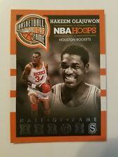 2013-14 Hoops Hall of Fame Heroes Rockets Basketball Card #5 Hakeem Olajuwon