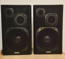 Pair Of AIWA SX-33A Bookshelf Stereo Speakers Wood 4 Ohms Tested