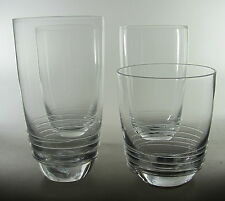 Mikasa Swirl Lot of 3 Highball Glasses + 1 Double Old Fashioned Glass New