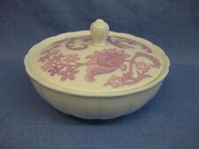 Wedgwood 'Pink Tapestry' Bone China Powder Puff Pot ~ Elizabeth Arden Lidded Pot