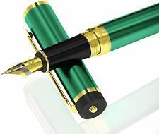 DRYDEN Luxury Fountain Pen [EMERALD GREEN] FREE Ink Refill Converter