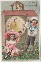 B 594 Neujahr 31.12.1912 ! Kinder mit Wein um 24 Uhr ! Präge - Karte !