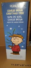 """Charlie Brown Christmas Tree 24"""" Peanuts Linus Snoopy Lucy Blanket Red Ornament"""