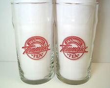 Jack Daniel's Tennessee Tea glasses x 2 Libbey Red logo & recipe 12 oz