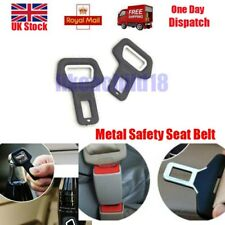 2x Universal Car Metal Safety Seat Belt Buckle Alarm Opener Clip Stop Warning