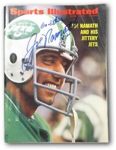 "Joe Namath Autographed Sports Illustrated Magazine 10/9/72 ""Go Jets!"" JSA V68004"