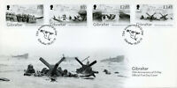 Gibraltar 2019 FDC WWII WW2 D-Day 75th Anniv 4v Cover Ships Military War Stamps