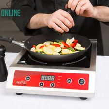 Electric Countertop Induction Digital Single Range Cooker Black 208 240V 3500W