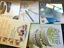 pottery and ceramics instruction books joblot bundle some rare