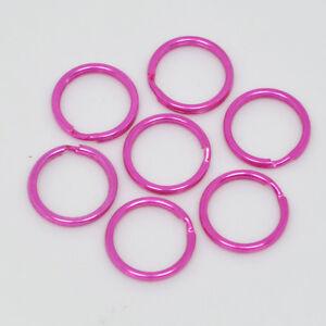15mm DARK PINK QUALITY ROUND SPLIT KEY RING DOUBLE LOOP CRAFTS FINDINGS KEYRINGS