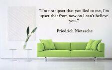 Vinyl Wall Decal Sticker Room Decor Quotes Inspiring Friedrich Nietzsche F2037